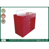 China Modern Eco - friendly Store Front Counter Furniture Red Color , retail front counter on sale