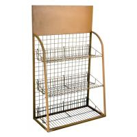 Quality Custom Wire Metal Display Rack  and Cases for Supermarket merchandise show for sale