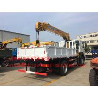 Quality 6000 / 8000kg Knuckle Truck Mounted Crane in White Red Boom Truck Crane SQ6ZK3Q for sale