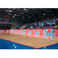 Quality Sports Stadium Perimeter Led Display Waterproof Steel Cabinet 6500 Nits P10 SMD for sale