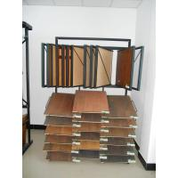 Quality Unique MDF / wood Flooring Display Racks sheet metal, tube Material 12 wire shelves for sale