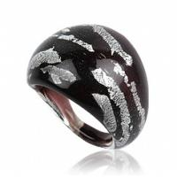 China italy style 5g Modern beaded Nickle and lead free jewellery 316l venetian glass rings on sale