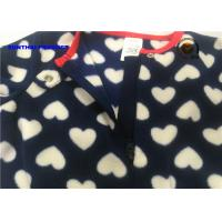 China Heart Print Baby Fleece Pram Suit And Hat Sets For Girls OEM / ODM Available on sale