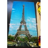 China photo printing beach towel , GSM400 , 70x140cm , 100% cotton on sale
