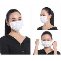 Quality White Color 3 Ply Disposable Face Mask CE FDA ISO13485 Certification for sale