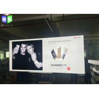 Quality Fabric Outdoor LED Light Box Sign Display Aluminum Framelss Backlit 80MM Thick for sale