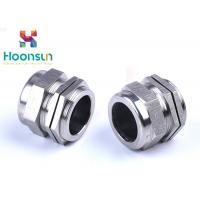 Quality NPT1 / 4 Dustproof Stainless Steel Cable Gland Waterproof Electroplate Surface Treatment for sale