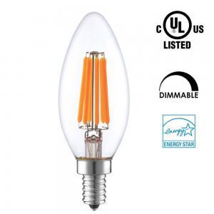 Quality Candle Shaped LED Energy Saving Light Bulbs , C35 LED Candelabra Bulbs E12 E14 Socket for sale