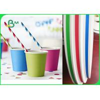 Quality FSC Approved 14mm 15mm Slitted Paper For Food Grade Paper Straw 100% Compostable for sale