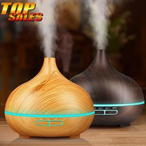 Quality Wood Grain 0.65A 300ml Essential Oil Aromatherapy Diffuser 12W for sale