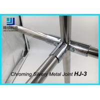 Quality 90 Degree 3 Way Flexible Chrome Pipe Connectors / Joints HJ-3 Silvery Color for sale