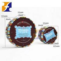 Quality Printed rigid round chocolate gift box for sale