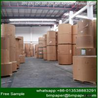 China Paper Mill C1S White Duplex Paper Card Board with Grey Back on sale
