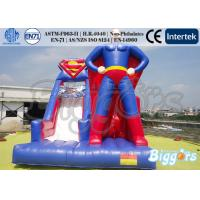 Quality Theme Inflatable Superman Bounce House Slide For Amusement Park Outdoor for sale