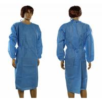 China Blue Patient Disposable Isolation Gowns Non Woven M-XXL Size With Free Samples on sale