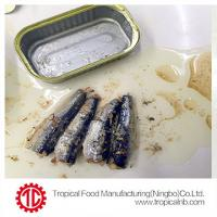 Buy cheap 50X125g best sardines in vegetable oil from Wholesalers