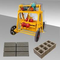 China hollow block machine, manual block making machine, cement bricks manufacturing machine price on sale