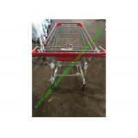 Buy Zinc And Powder Coating Supermarket Shopping Cart / Steel Mesh Hand Trolley at wholesale prices