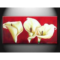 Quality Realistic Customized Landscape Paint Handmade Oil Painting with Flower hhd1010 for sale