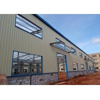 Quality Q235 Prefabricated Light Steel Space Frame Structure , Prefab Workshop Buildings for sale