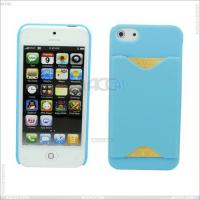 Quality New Arrival Plastic Hard Case with Back Card Slot Cover for iPhone 5 for sale