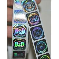 Quality 3D Laser Anti-Counterfeiting hologram sticker, Anti-counterfeiting Label, Anti-fake label for sale
