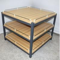 Buy Anti Rust Retail Store Iron Promotion Wooden Display Rack With Barrier / Wood at wholesale prices