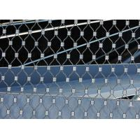 Quality Ferruled Stainless Steel Wire Rope Mesh For Decoration AISI 316 Diamond Shape for sale