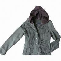 China Women's Down Coat, Made of 100% Cotton Twill Fabric on sale