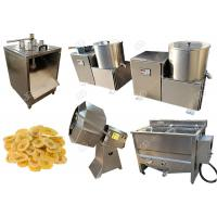 Quality Green Banana Plantain Potato Chips Machine With Slicing And Deoiling Function 100 Kg / H for sale