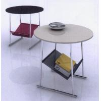 China Customized Small Marble Modern Round Coffee Tables with Storage Bag for Living Room on sale
