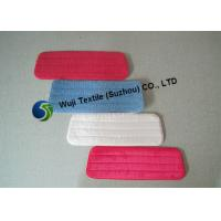 China SGS Red Blue Microfiber Mop Pads , Flat Mop Head for Marble Flooring on sale