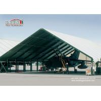 Quality Special Fabric Aircraft Hangar Tent 30M Width With Glass Wall for sale