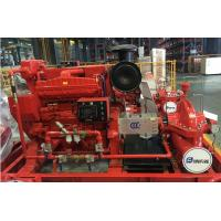 Quality Customized Diesel Fire Sprinkler Pumps / Red High Pressure Fire Fighting Pumps for sale