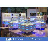 Quality Modern Used Jewelry Display Cases / Jewelry Show Cases With Led Lights for sale