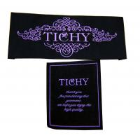 Buy Canvas Clothing Woven Labels Customized  Luxury  Design viaries size for fashion Clothes at wholesale prices