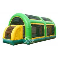 Quality 3 in 1 multiuse blow up kids inflatable basketball court with roof made of UV resistance material for sale