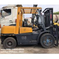Quality used 4.5ton tcm forklift FD45T8 originally made in japan ,worked for 2000 hrs, 3m lefting height for sale