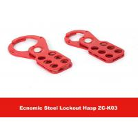 Quality 115mm Height Red Color Economic Steel Lockout Hasp with 25mm Lock Shackle for sale