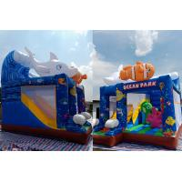 Quality Small Inflatable Bouncer House Combo With Slide For Underwater Sea / Home Backyard for sale