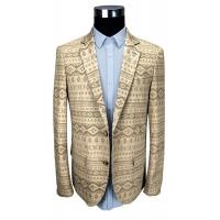 Quality Custom Printed Suit 100% Cotton Jacket Beige Custom Made Size Breathable for sale