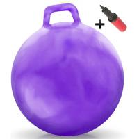 Quality Kids Inflatable Toy Bouncing Fitness Gym Jump Hopper Bouncy Ball With Handle for sale
