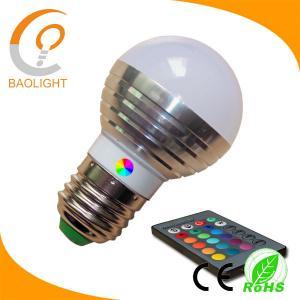 Quality G45 colorful led bulb light RGB 3W E27 for sale