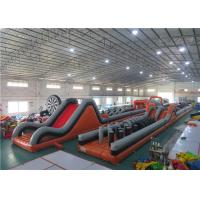 Quality Anti - Ruptured Inflatable Obstacle Challenges , Blow Up Off - Road Car Obstacle Course for sale