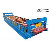 Quality Hihg Power Metal Roof Trapezoidal Sheet Roll Forming Machine Delta PLC Control for sale