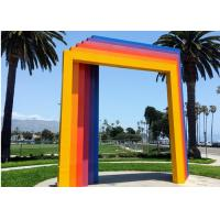 Quality Custom Painted Metal Sculpture , Modern Gate Sculpture For Garden Landscape for sale