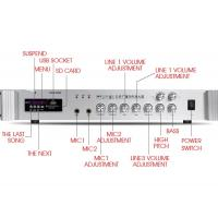 China 2 Zones Control PA System Amplifier Fashionable Appearance With Bluetooth Function on sale