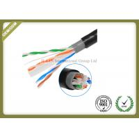 Quality Outdoor Cat6 UTP Cable Double Jacket , 305 Meters / Roll Optical Ethernet Cable for sale