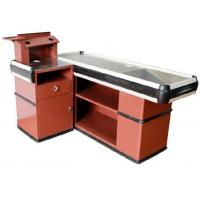 Buy OEM Metal Supermarket Checkout Counter , Shop Cash Counter Without Belt at wholesale prices