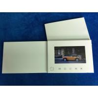 Quality Paper card type matt lamination 7inch LCD screen video invitation card digital video book video folder without printing for sale